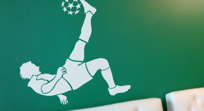 samolepky na stenu fotbalista