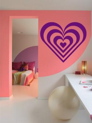 samolepky na stenu srdce