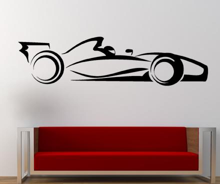 samolepka na stenu formule 1